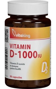 Vitamina D3 Vitaking 1.000ui - 90 cps