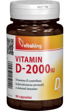 Vitamina D3 Vitaking 2.000ui - 90 cps