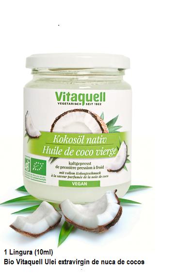 Ulei Extravirgin de Nuca de Cocos Bio - VITAQUELL - 215ml