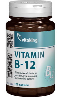 Vitamina B12 (Cianocobalamina) Vitaking 500mcg - 100cps