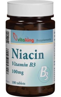 Niacina / Vitamina B3 (Acid nicotinic) Vitaking 100mg - 100 tbs