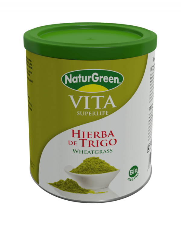 Pulbere de Iarba de Grau Verde Incoltit Bio NaturGreen - cutie 200g