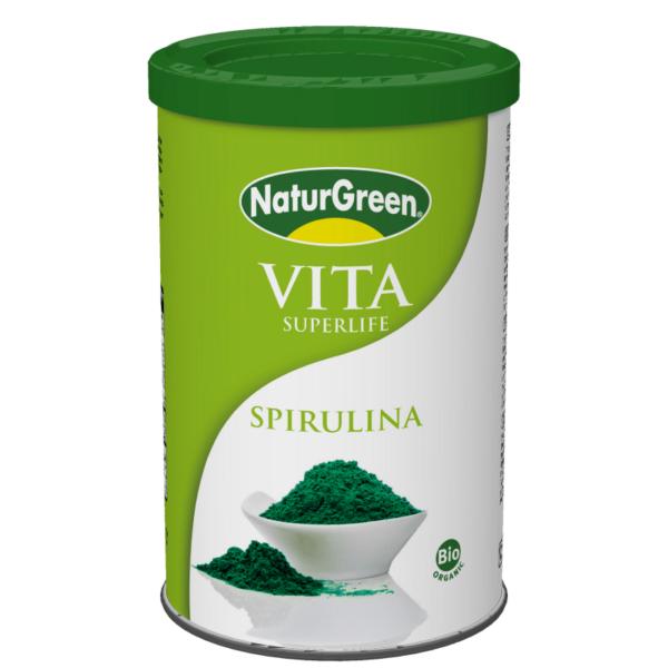 Pulbere de Spirulina Bio NaturGreen - cutie 175g