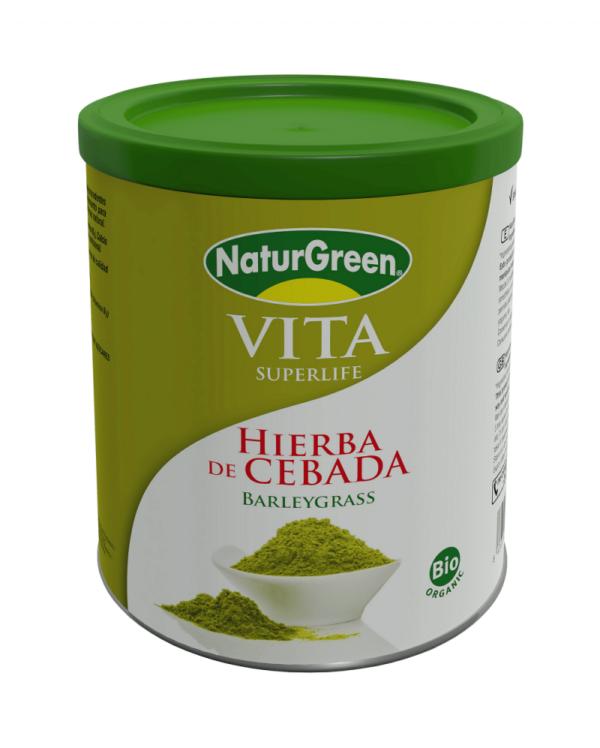 Pulbere de Iarba de Orz Verde Incoltit Bio NaturGreen - cutie 200g
