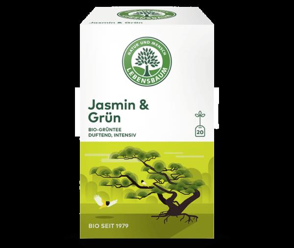 Ceai Verde & Iasomie Bio Lebensbaum - 20 de plicuri x 1,5 g