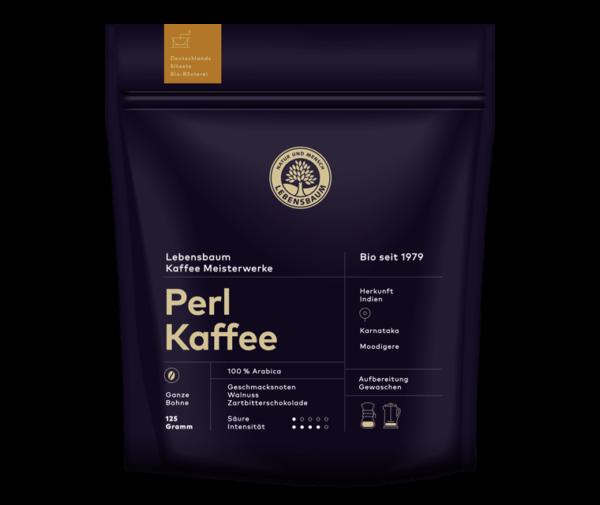 Cafea boabe PERL KAFFE, Ecologica Bio Lebensbaum - 125 g
