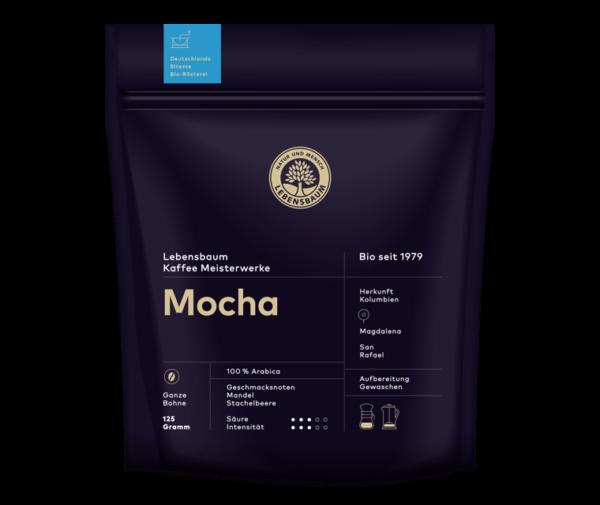 Cafea boabe MOCHA, Ecologica Bio Lebensbaum - 125 g