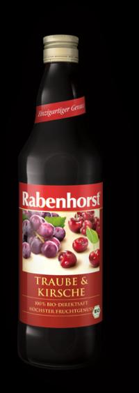 Suc de Cirese si Struguri Rosii Bio - RABENHORST - 750ml. Poza 6094