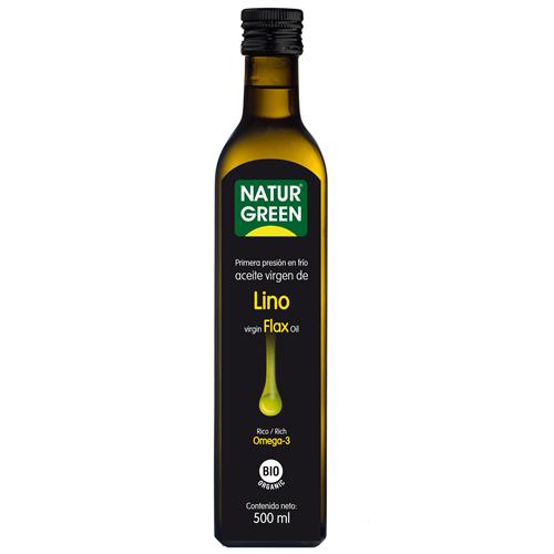 Ulei virgin de In de prima presare la rece Raw Food Bio - NaturGreen - 500ml. Poza 6105