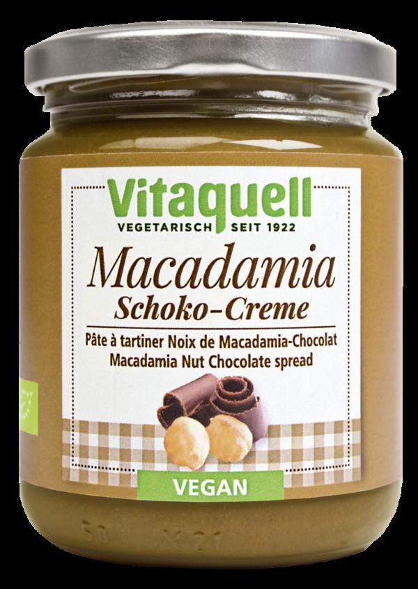 Crema Vegana de Nuca Macadamia cu Ciocolata Bio - VITAQUELL - 250g. Poza 6149