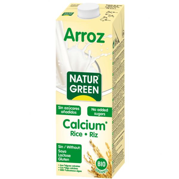 Lapte din Orez cu Calciu Marin Organic BIO NaturGreen - 200ml