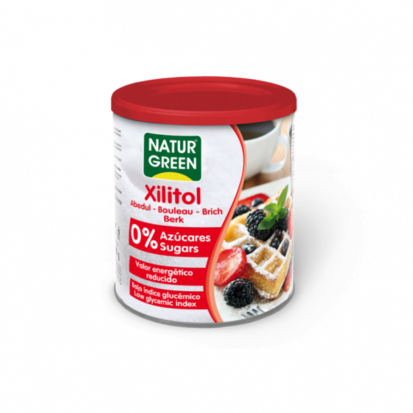 Indulcitor Zahar de Mesteacan - Xilitol NaturGreen - cutie 500g