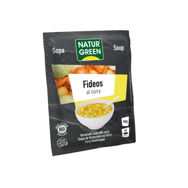 Supa Vegetala cu Fidea si Curry Bio - NaturGreen - 40g