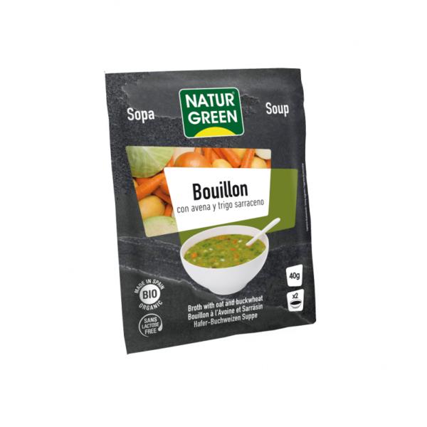 Supa Bulion Vegetal cu Ovaz si Hrisca Bio - NaturGreen - 40g