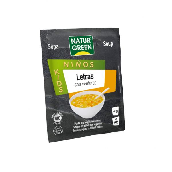 Supa de Verdeturi cu Litere Bio - NaturGreen - 40g
