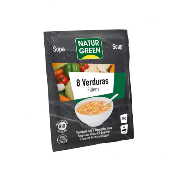 Supa cu 8 Legume si Fidea Bio - NaturGreen - 40g