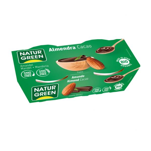 Desert Dietetic din Migdale cu Cacao Bio - NaturGreen - 250g (2buc x125g)