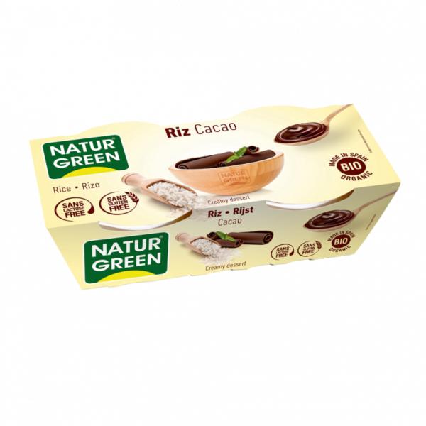 Desert Dietetic din Orez cu Cacao Bio - NaturGreen - 250g (2buc x125g)