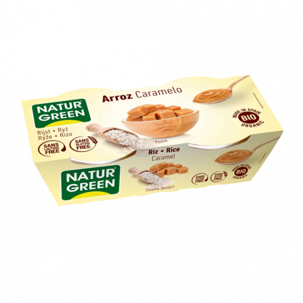 Desert Dietetic din Orez cu Caramel Bio - NaturGreen - 250g (2buc x125g)