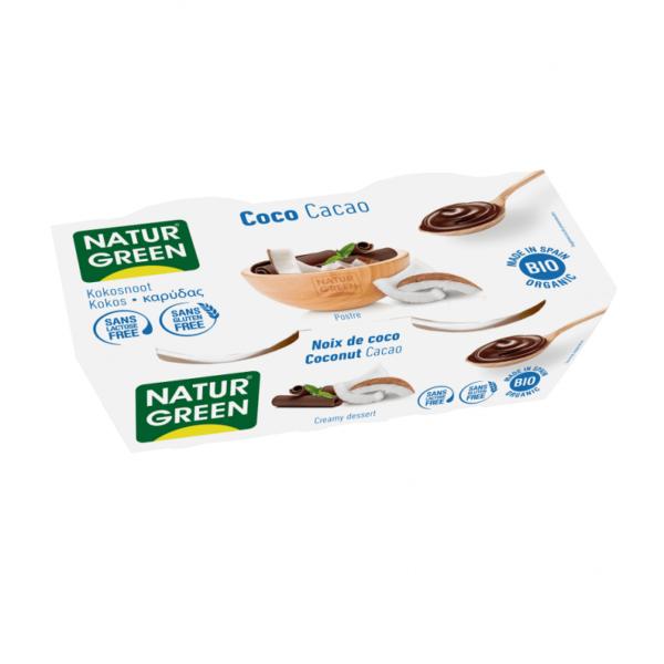 Desert Dietetic din Nuca de Cocos si Cacao Bio - NaturGreen - 250g (2buc x125g)