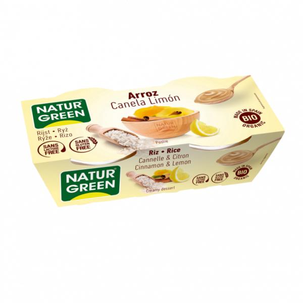 Desert Dietetic de Ovaz cu Scortisoara si Lamaie Bio - NaturGreen - 2 x125g