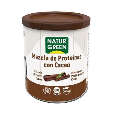 Pulbere din Mix de Proteine Vegetale si Cacao Ecologica, BIO NaturGreen -  cutie 250g. Poza 6284