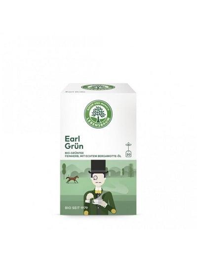 Ceai Verde EARL GREY, Ecologic Bio Lebensbaum - 20 plicuri x 1,5g. Poza 6324