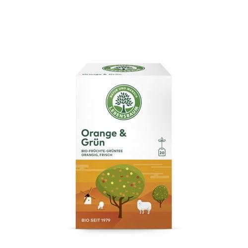 Ceai Verde si Portocale, Ecologic BIO LEBENSBAUM – 20 plicuri x1,5g. Poza 6337