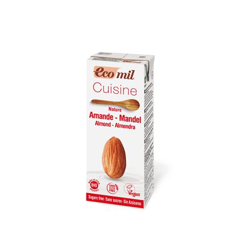 Smantana/ Crema de Migdale pentru Gatit NEINDULCITA, BIO EcoMil - 200 ml