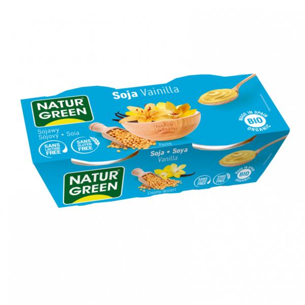 Desert Dietetic din Soia cu Vanilie Bio - NaturGreen - 250g (2buc x125g). Poza 6406