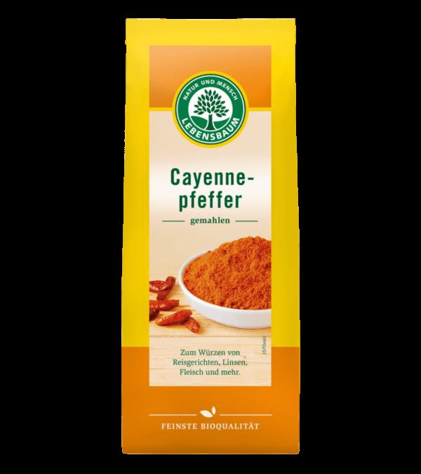 """Pulbere de Chilli din Ardei """"Cayenne"""", Ecologic BIO LEBENSBAUM - 50 g. Poza 6516"""