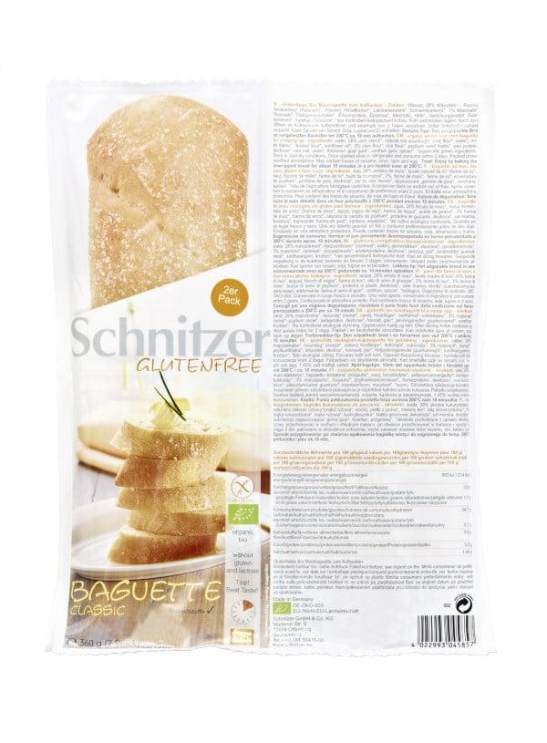 Bagheta Classic Fara Gluten, Ecologica - BIO SCHNITZER - 360 g. Poza 6583