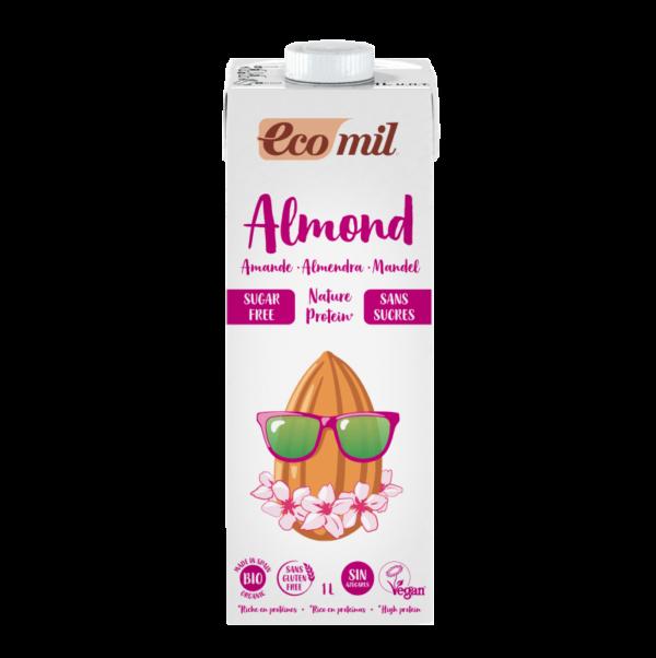 Lapte Neindulcit NATURE din Migdale, Imbogatita cu Proteine din Mazare, Ecologica BIO EcoMil -1 L. Poza 6601