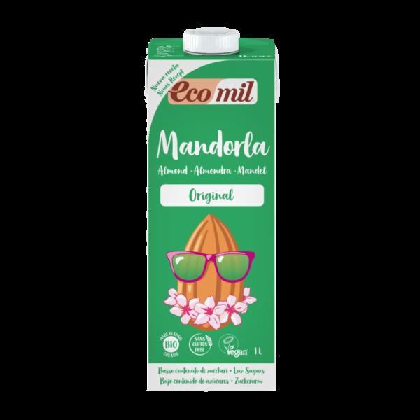 Lapte de Migdale indulcit cu Agave BIO EcoMil - cutie 1000 ml. Poza 6605