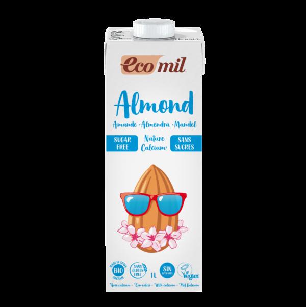 Lapte de Migdale, Neindulcit, Hipocaloric imbogatit cu Calciu Marin Organic BIO EcoMil - cutie 1000ml. Poza 6607