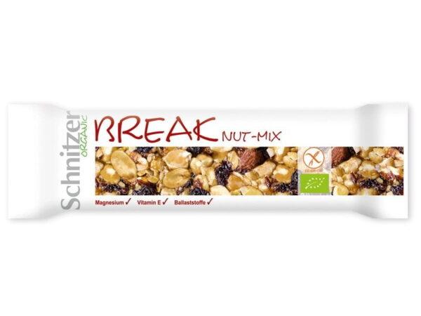Baton din Mix de Fructe Oleaginoase, Fara Gluten, Ecologice - BIO SCHINTZER -40g. Poza 6667