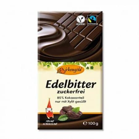 Ciocolata Neagra, Vegana, Fara Zahar (85% CACAO) - BIRKENGOLD - 100 g. Poza 6707