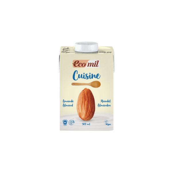 Smantana/ Crema de Migdale pentru Gatit cu Sirop de Agave, BIO EcoMil - Cutie 500 ml. Poza 6726