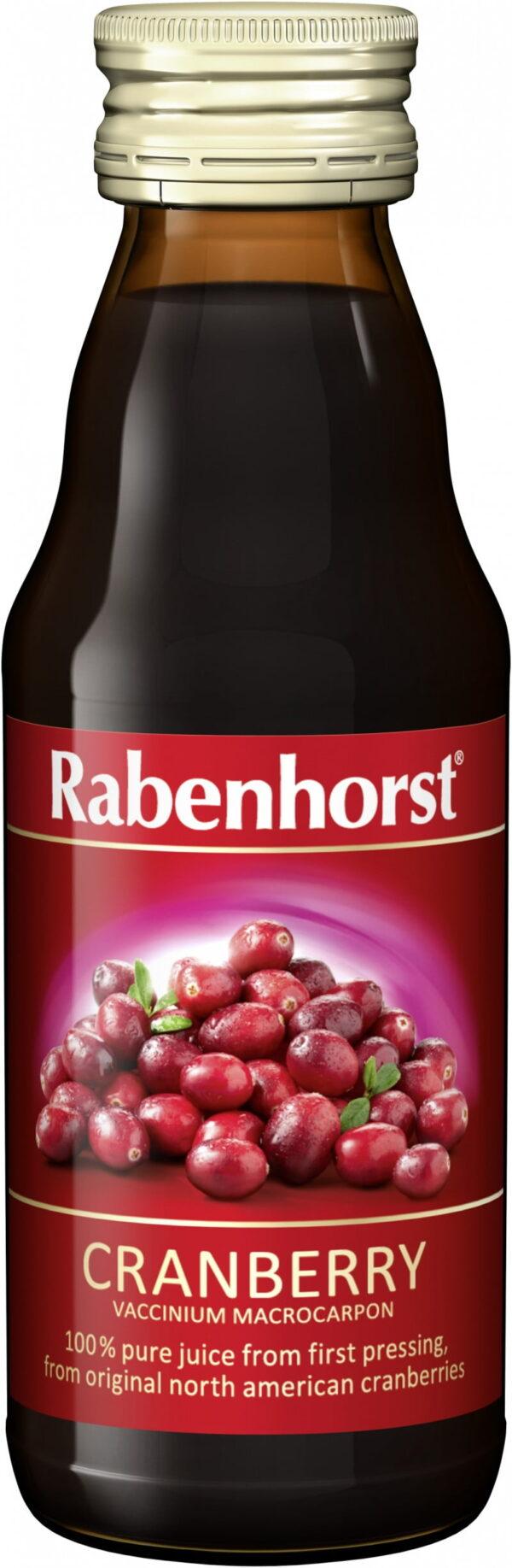 Suc de Merisor Canadian / CRANBERRY / Afine Rosii  - RABENHORST - 125 ml. Poza 6786